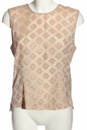 Gustav Sleeveless Blouse cream-gold-colored allover print casual look