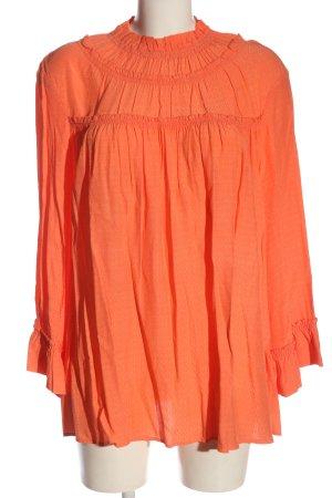 Gustav Long Sleeve Blouse light orange business style
