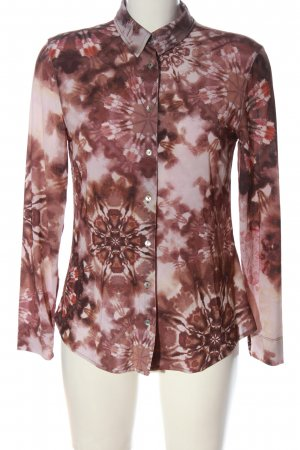 Gustav Long Sleeve Shirt cream-pink allover print business style