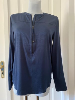 Gustav Long Sleeve Blouse dark blue viscose