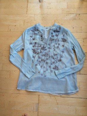 Gustav Shirt hellblau mit grauen Paletten Gr. 38