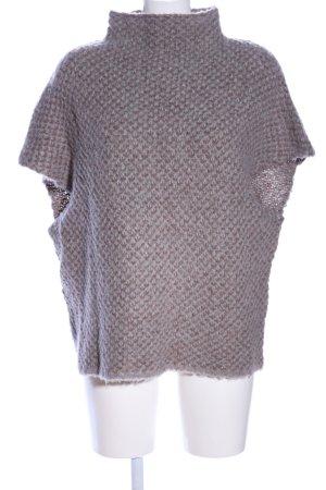 Gustav Gebreid shirt bruin-lichtgrijs Webpatroon casual uitstraling