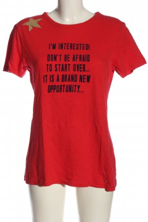 Gustav T-Shirt red-black printed lettering casual look