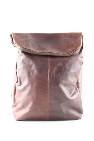 Gusti Leder Sac à dos de randonnée brun style d'affaires