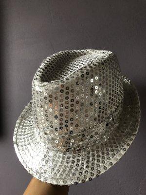 Sombrero de copa color plata
