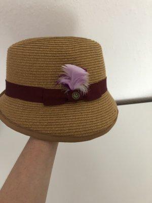 Cappello di paglia bronzo-sabbia