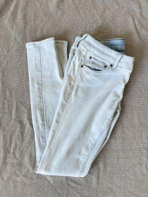 G-Star Jeansy o obcisłym kroju biały-błękitny