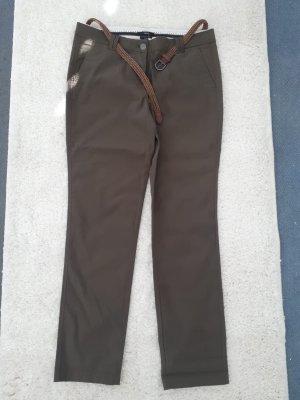 Zero Pantalon kaki gris brun-brun coton
