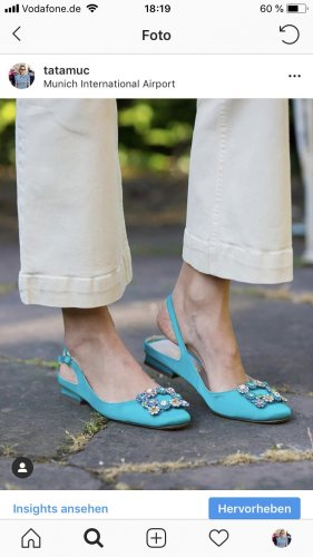 Alma en Pena Slingback Ballerinas light blue mixture fibre
