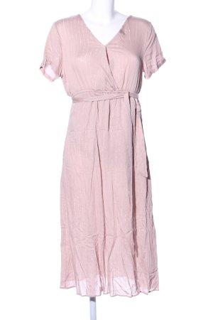 Guts&Gusto Midikleid pink Streifenmuster Elegant