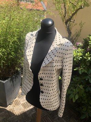 Gutsitzender, taillierter  Blazer beige schwarz Gr.S/M