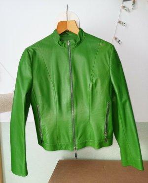 Guy Fulop  Lederjacke Biker  Sommergrün