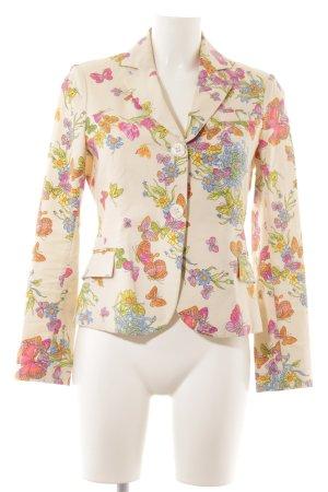 Guy Rover Blazer de esmoquin estampado floral estilo extravagante