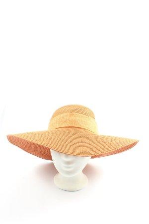 Guzella Straw Hat light orange extravagant style