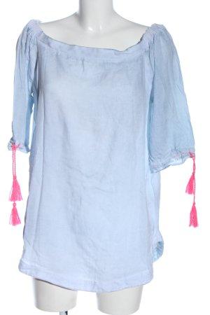 gwynedds Carmen-Bluse blau Casual-Look