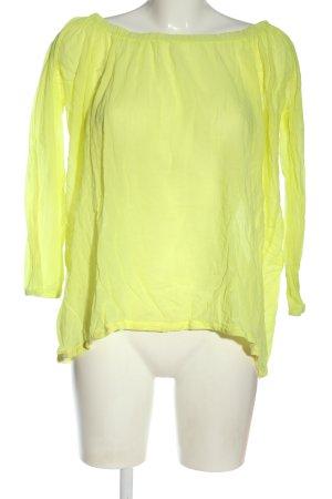 gwynedds Camisa tipo Carmen amarillo pálido elegante