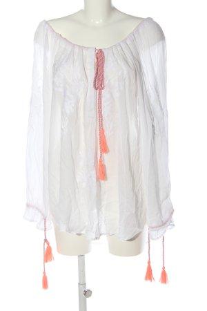 gwynedds Long-Bluse weiß Elegant