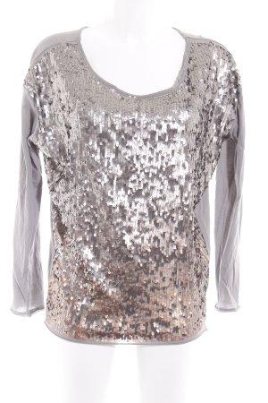 gwynedds Longshirt hellgrau-silberfarben Elegant