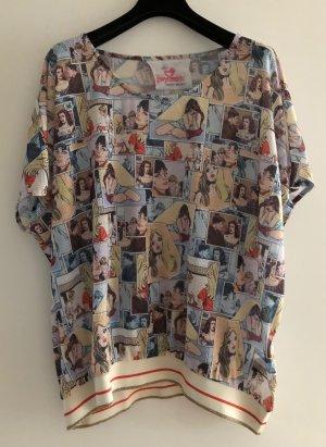 Gwynedds Shirt Oversized mit Comic Print M