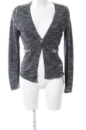 gwynedds Veste en tricot gris clair imprimé allover style décontracté