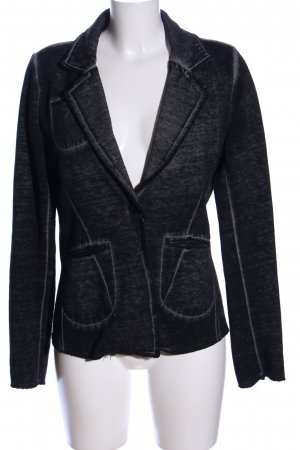 gwynedds Sweatblazer schwarz meliert klassischer Stil