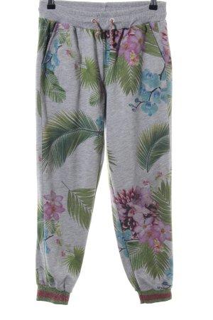 gwynedds Pantalon de jogging motif de fleur style décontracté