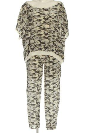gwynedds Twin Set tejido blanco puro-gris claro estampado con diseño abstracto