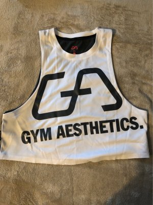 Gym Aesthetics Cropped Top grey-white