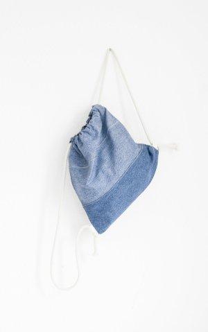 School Backpack neon blue cotton