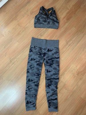 0039 Italy Legging noir-gris