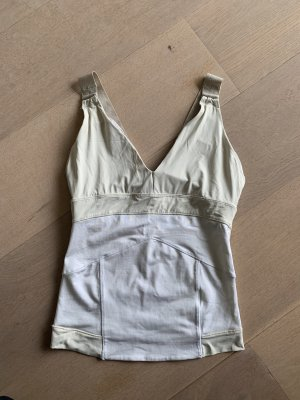 Adidas by Stella McCartney Canotta sportiva beige chiaro-bianco Poliestere
