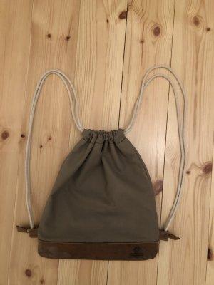Bolsa de gimnasio marrón grisáceo-marrón Cuero