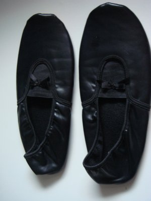 Vintage Składane baleriny czarny