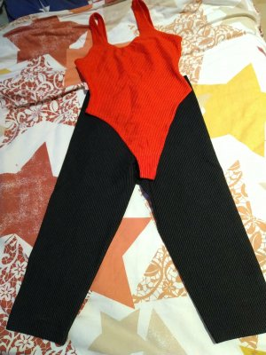 Casall Basic Bodysuit black-red