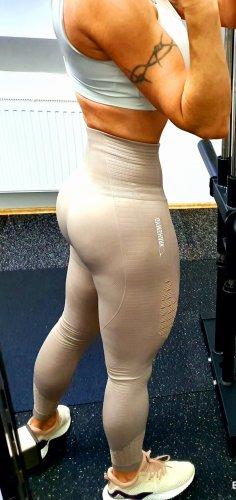 GYMSHARK Pantalone da ginnastica crema-beige chiaro