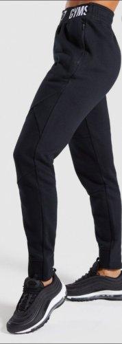 GYMSHARK Pantalone da ginnastica bianco-nero