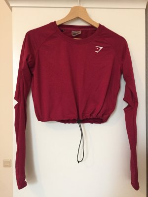 GYMSHARK Cropped top donkerrood