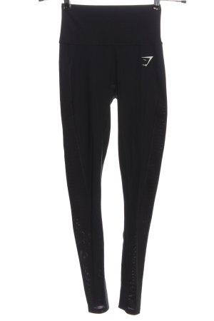 GYMSHARK pantalonera negro-blanco moteado look casual