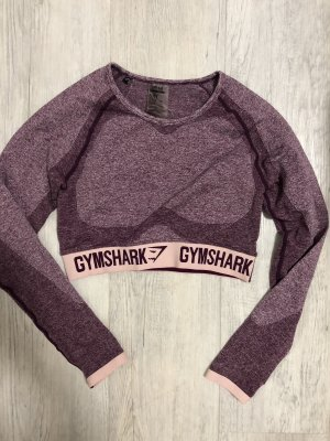 GYMSHARK Sports Shirt purple-white