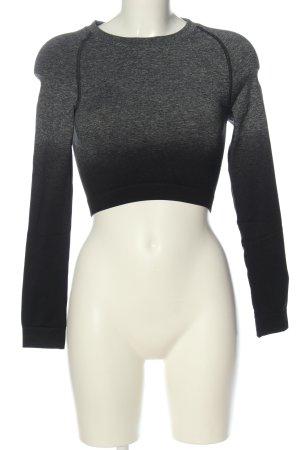 GYMSHARK Camisa deportiva gris claro-negro degradado de color look casual