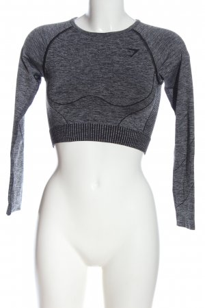 GYMSHARK Camisa deportiva gris claro moteado look casual