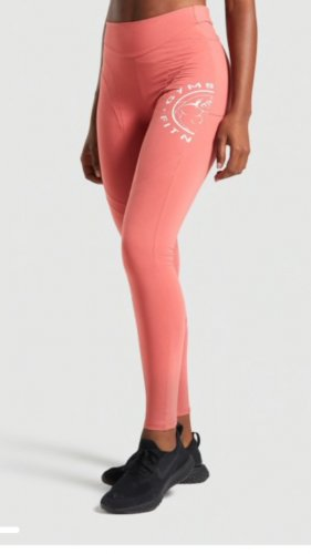GYMSHARK WOMENS  LEGACY FITNESS PANEL LEGGINGS in Brick Red