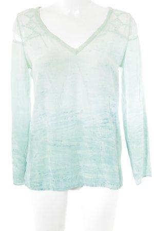 Gypsy Langarm-Bluse blassgrün-türkis Street-Fashion-Look