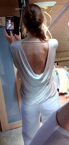Gypsy Koszulka z dekoltem woda biały-jasnobeżowy Modal