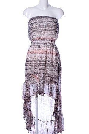 Gypsy schulterfreies Kleid Allover-Druck Elegant