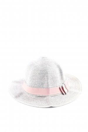 H & B Clothing Straw Hat light grey-pink casual look