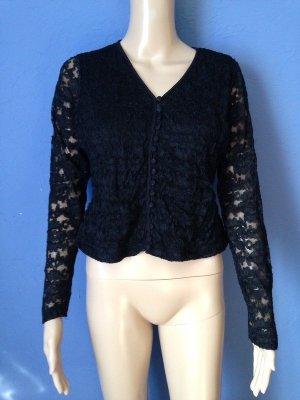 H Collection Vintage Bluse Spitze Gothic Lace 90s