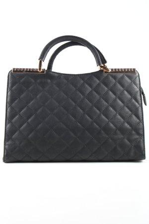 H&D Collection Handtasche schwarz Steppmuster Business-Look