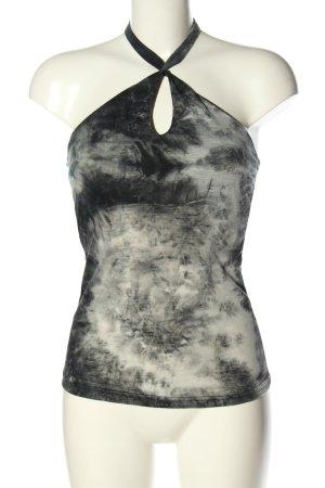 H.Flo Fashion Top senza maniche bianco-nero Colore sfumato elegante