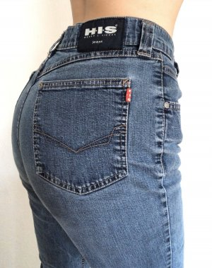 H.I.S Hoge taille jeans donkerblauw
